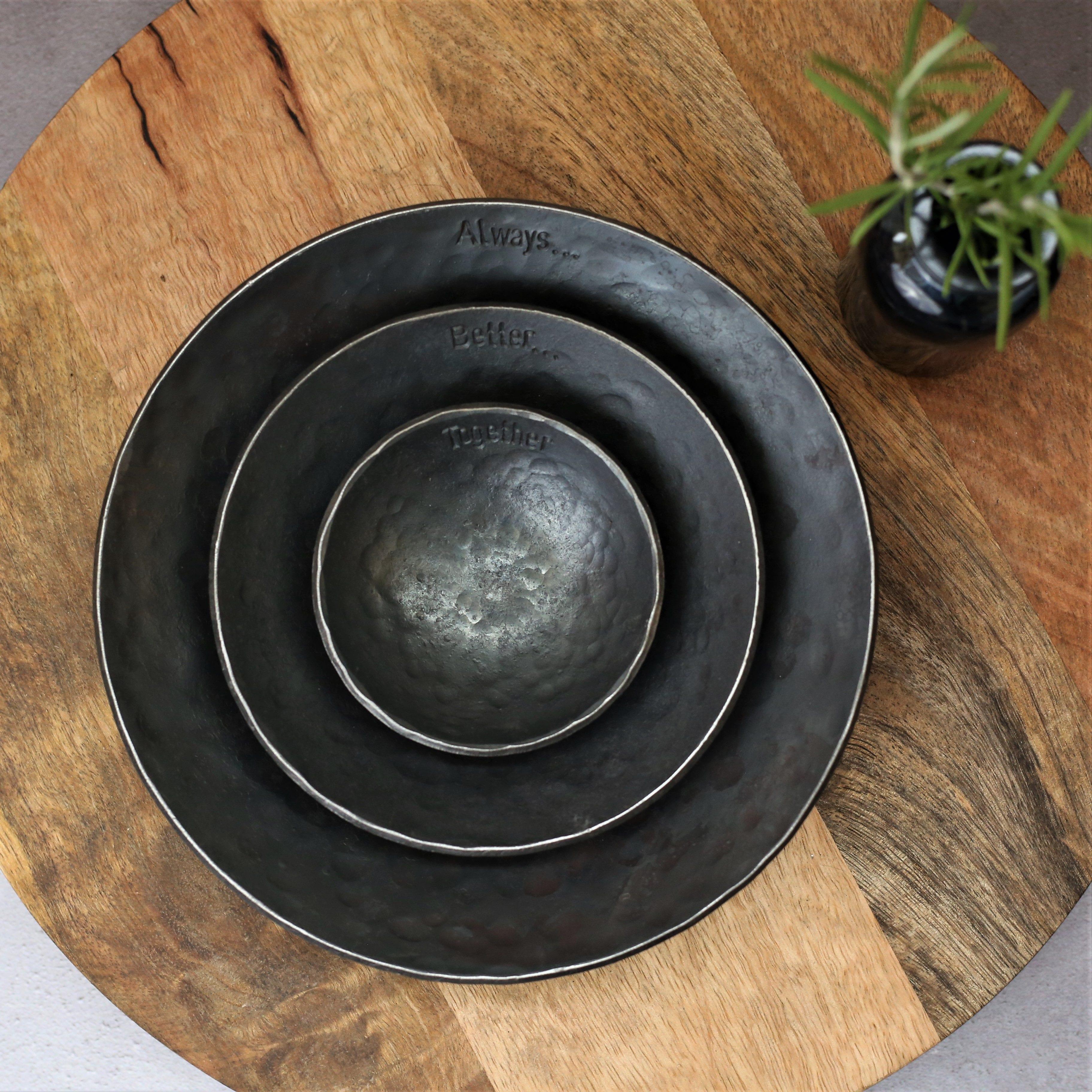 3 Metal Bowls