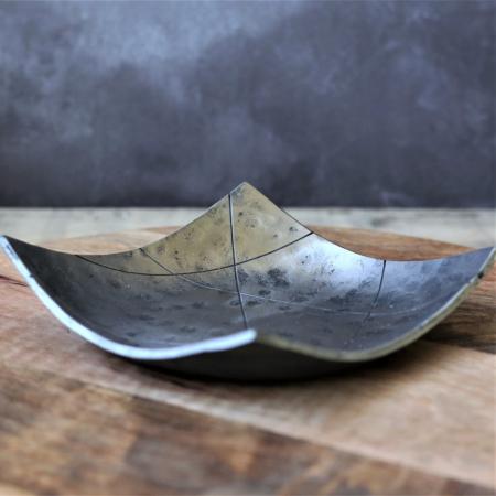 Square Polished Steel Bowl
