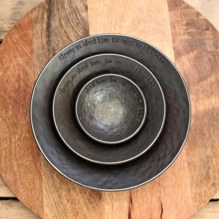 3 Round Bowls with messages