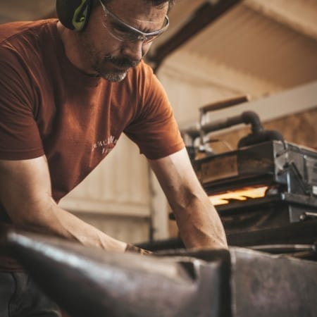 Workshop Chris and anvil
