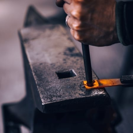Workshop anvil bookmark