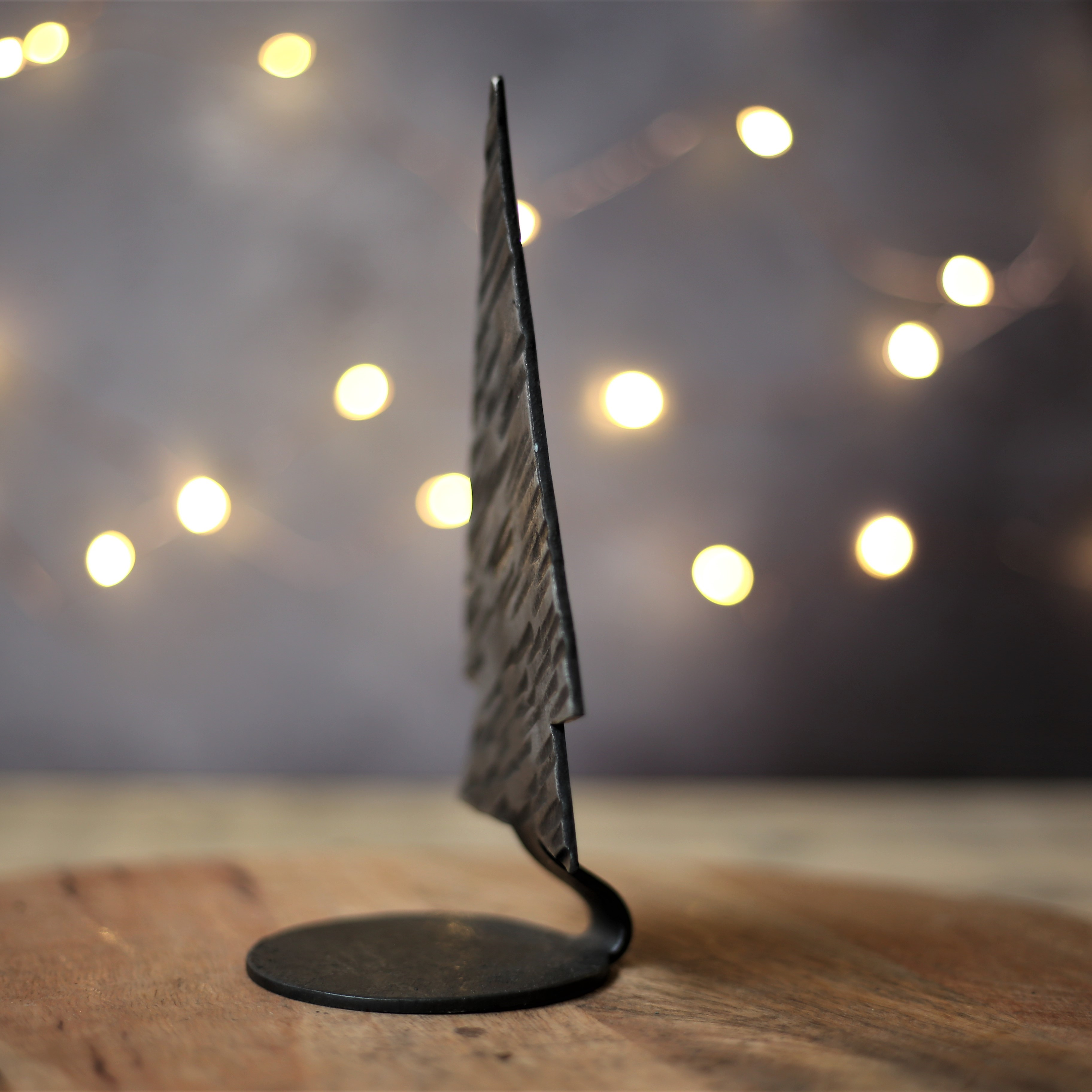 profile of christmas tree candle holder