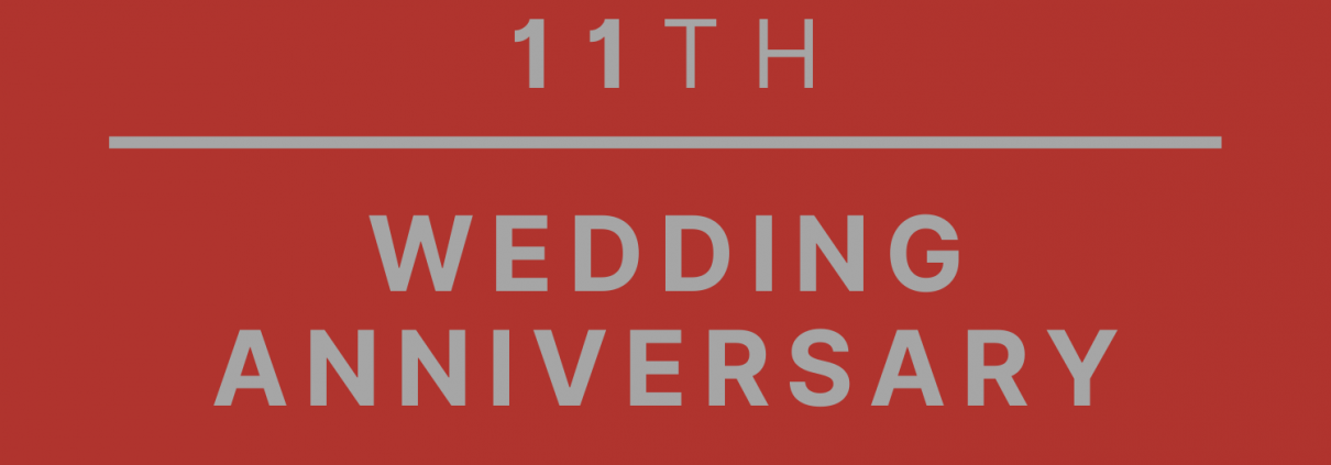 11th wedding anniversary gifts