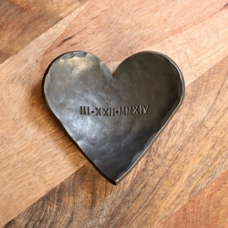 Heart dish with roman numerals