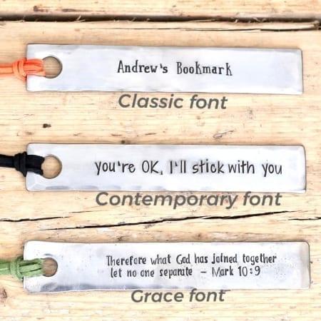 Bookmark Font Choice