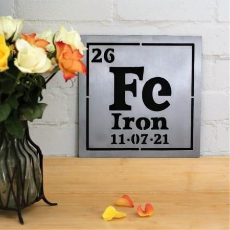 Iron Periodic Table Plaque