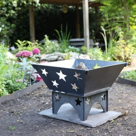 Fire Pit Stars with star legs
